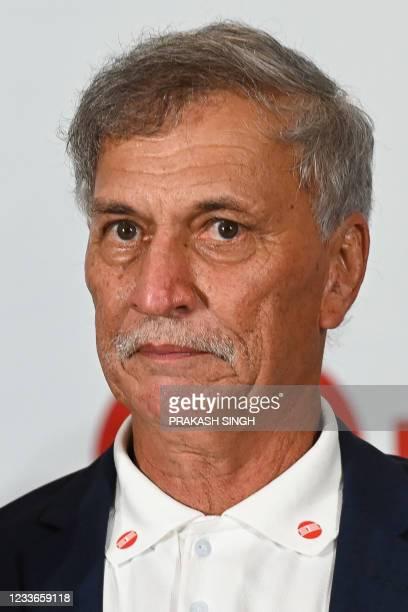 """Former Indian cricketer Roger Binny, who won the 1983 World Cup, attends the launch of the newest edition of """"The 1983 World Cup Opus"""" book in..."""