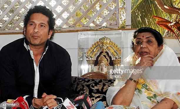 Former Indian cricketer Sachin Tendulkar and Bollywood veteran playback singer Lata Mangeshkar who are both Bharat Ratna award recipients talk to...