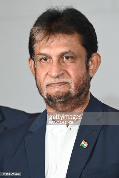 """Former Indian cricketer Sandeep Patil, who won the 1983 World Cup, attends the launch of the newest edition of """"The 1983 World Cup Opus"""" book in..."""