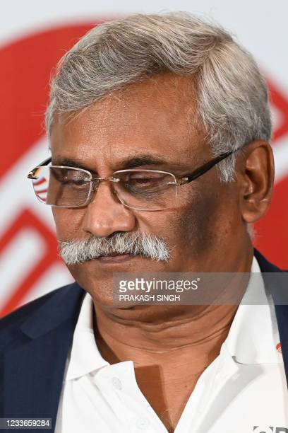 """Former Indian cricketer Sunil Valson, who won the 1983 World Cup, attends the launch of the newest edition of """"The 1983 World Cup Opus"""" book in..."""