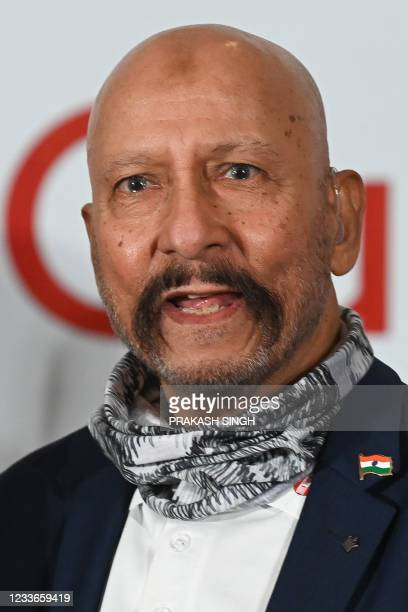 """Former Indian cricketer Syed Kirmani, who won the 1983 World Cup, attends the launch of the newest edition of """"The 1983 World Cup Opus"""" book in..."""