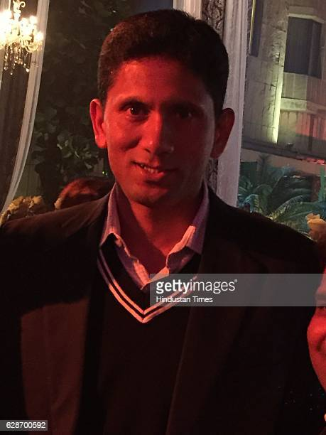 Former Indian cricketer Venkatesh Prasad during the wedding reception of Indian Cricketer Yuvraj Singh and Bollywood actor Hazel Keech at ITC Maurya...