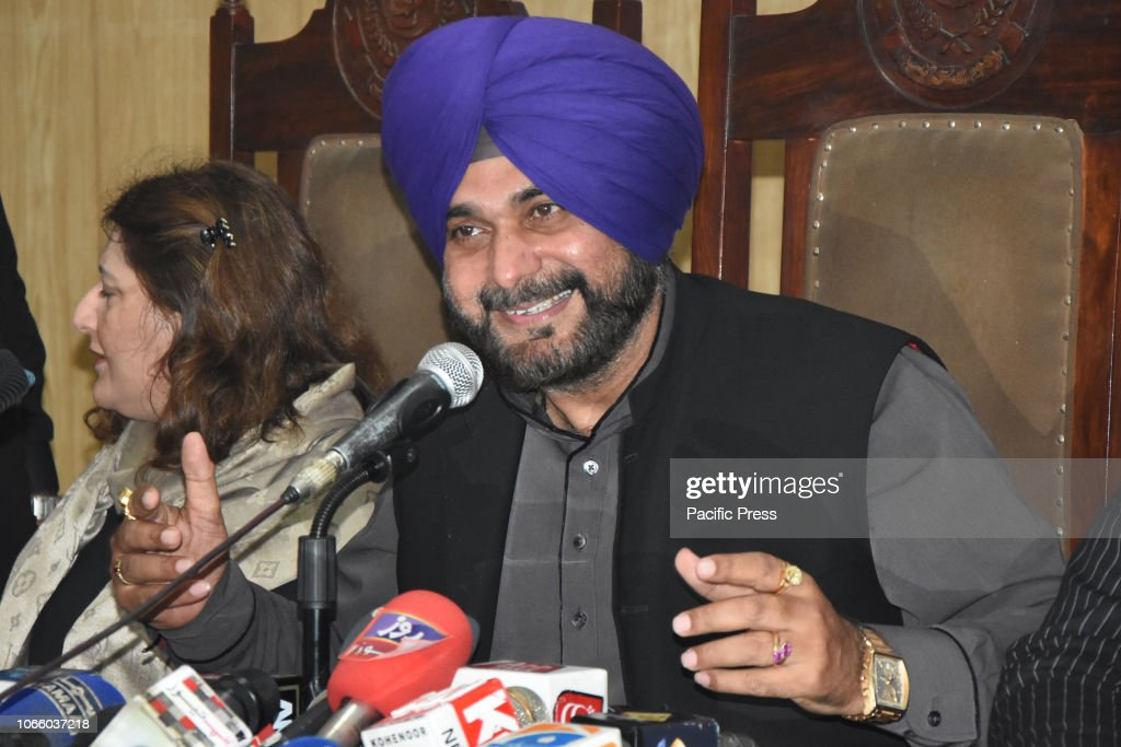 Former Indian cricketer-turned-politician, India's Punjab... : News Photo
