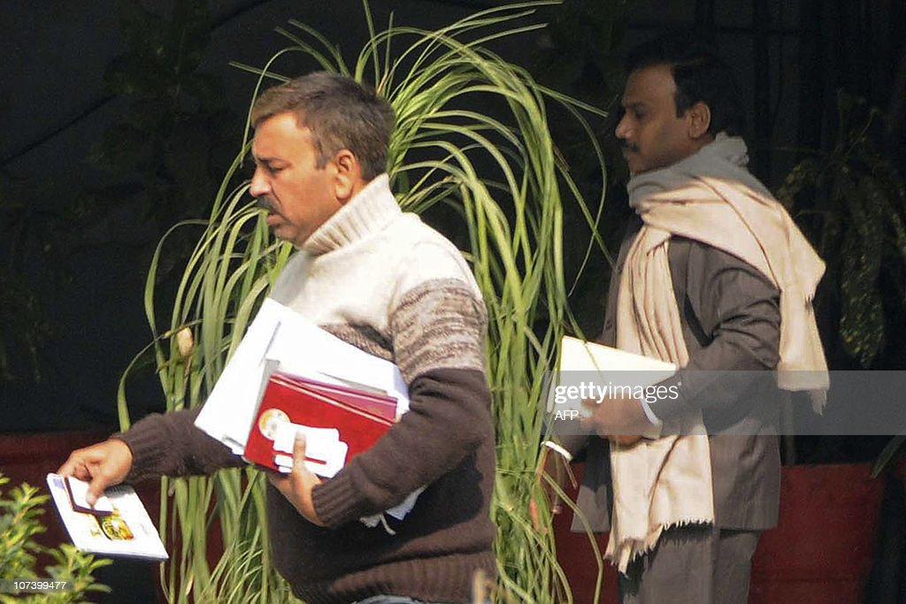 Former Indian Telecom Minister A Raja Is Seen With A Central Bureau