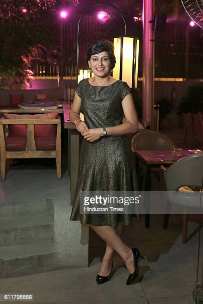 Former Indian Women Cricketer Anjum Chopra during a felicitation program organized for her to receive honorary membership of Marylebone Cricket Club...