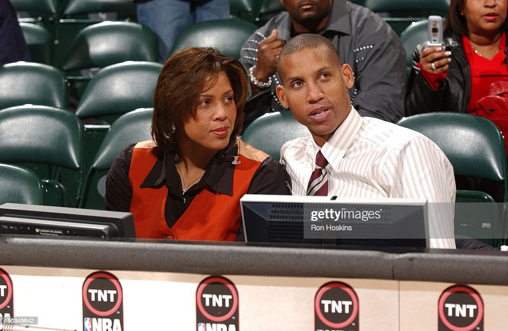 Cleveland cavaliers v indiana pacers photos and images getty images former indiana pacer and current tnt basketball reggie miller sits at the announcers table with his voltagebd Images
