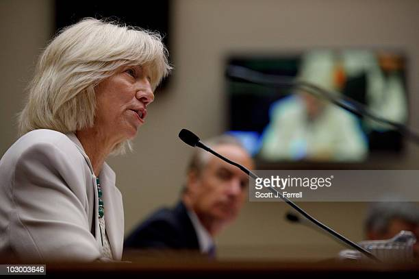 Former Interior Secretary Gale Norton and former Interior Secretary Dirk Kempthorne during the House Energy and Commerce Subcommittee on Energy and...