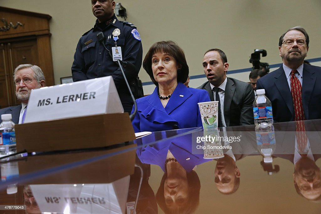 Former IRS Director Lois Lerner Testifies To A House Oversight Committee On IRS Targeting Scandal : News Photo