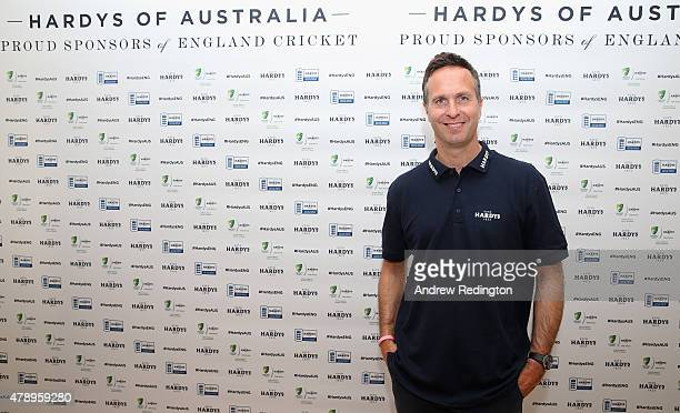Former international cricketer Michael Vaughan is pictured during a photocall at the Honourable Artillery Company on June 29 2015 in London England