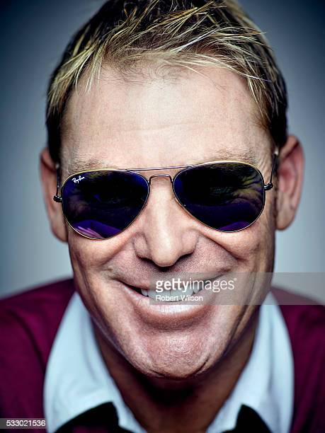 Former international cricketer Shane Warne is photographed for the Times on May 28 2015 in London England