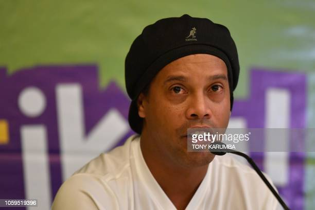 Former international football star World Cup winner and double FIFA World Player of the Year Brazil's Ronaldo de Assis Moreira also known as...