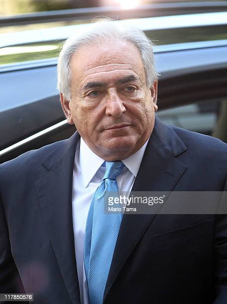 Former International Monetary Fund leader Dominique StraussKahn enters New York State Supreme Court for a hearing on July 1 2011 in New York City...
