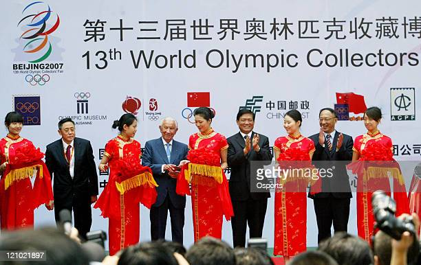 Former International Olympic Committee President Juan Antonio Samaranch attends the opening ceremony of the 13th World Olympic Collectors Fair on...