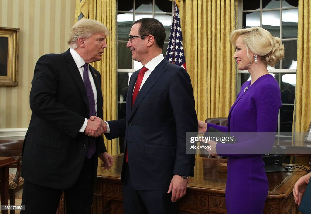 Steven Mnuchin Sworn In As Treasury Secretary : News Photo