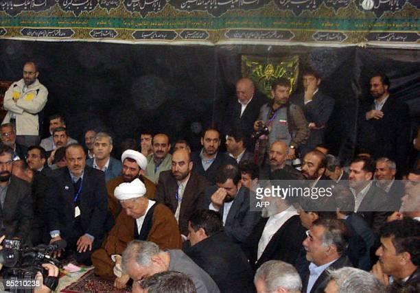 Former Iranian president Akbar Hashemi Rafsanjani prays the Shiite alAskari Shrine in the northern mainly Sunni Muslim city of Samarra on March 3...