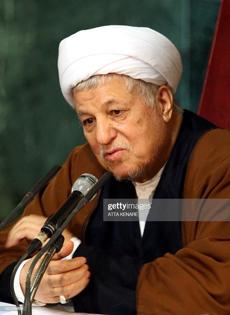 Former Iranian president and head of Iran's Assembly of Experts, Akbar Hashemi Rafsanjani, addresses the top clerical body during their meeting in Tehran on February 23, 2009.