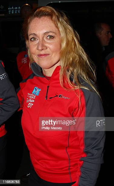 Former Irish Olympic swimmer Michelle De Bruin at the Late Late Show at the RTE Studios on October 19, 2007 in Dublin, Ireland