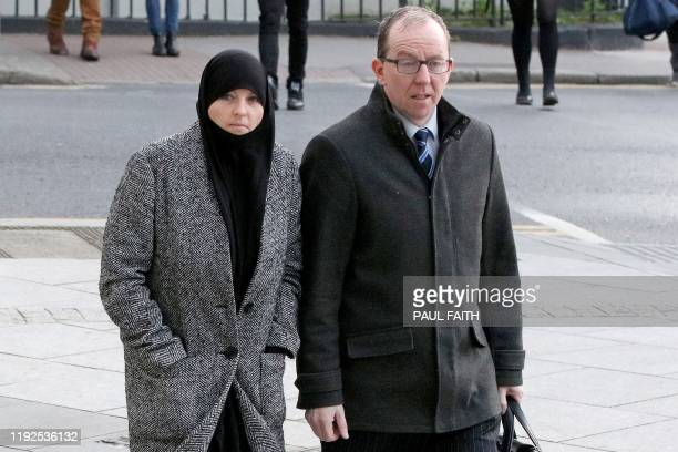 Former Irish soldier Lisa Smith arrives to attend her court hearing at the Central Criminal Court in Dublin on January 8 2020 Smith was arrested by...