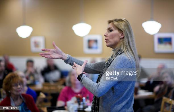 Former Irving Mayor Beth Van Duyne, GOP candidate for the 24th Congressional district in Texas, holds a meet and greet event at PJ's Cafe in Irving,...