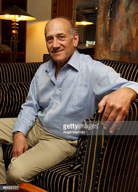 Former Israeli Prime Minister Ehud Olmert poses on April 10, 2010 in Madrid, Spain. Olmert is reported to be cutting short a European vacation to...