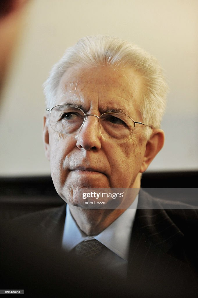 Former Italian First Minister and Member of the Italian senate of the new Italian Government Mario Monti speaks during The State of Union conference on May 9, 2013 in Florence, Italy. Academic, business and political leaders are taking part in the annual conference which lasts through May 10th, debating various EU policies and institutions.