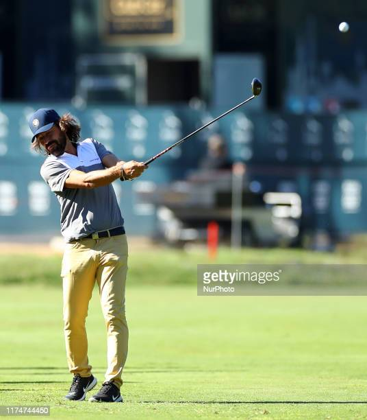 Former italian football player Andrea Pirlo during the Rolex Pro Am at Golf Italian Open in Rome Italy on October 9 2019