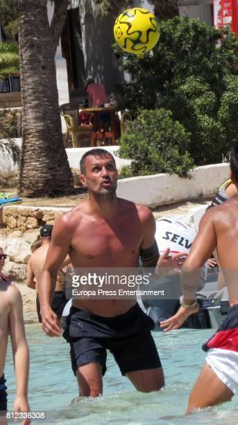 Former Italian footballer Paolo Maldini is seen on July 10 2017 in Ibiza Spain