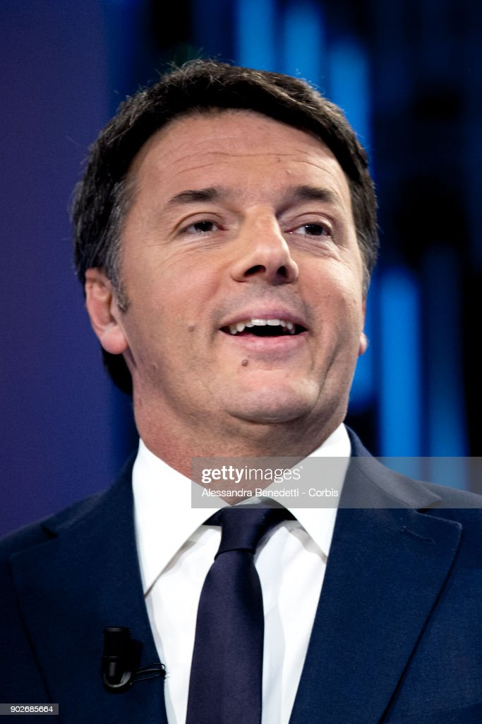Matteo Renzi Attends Broadcasting Interview Ahead of General Election Campaigning