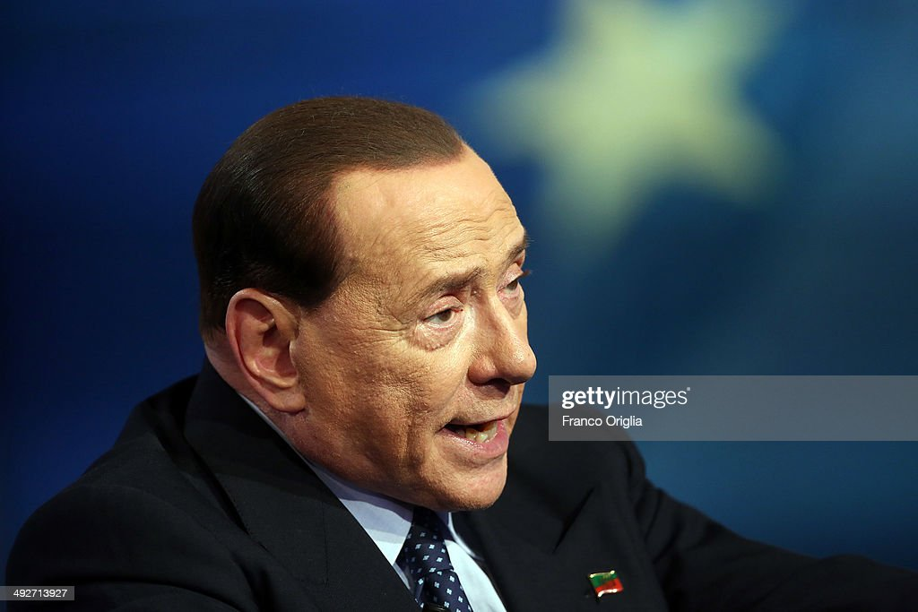 Silvio Berlusconi At 'Porta A Porta' Tv Show : News Photo