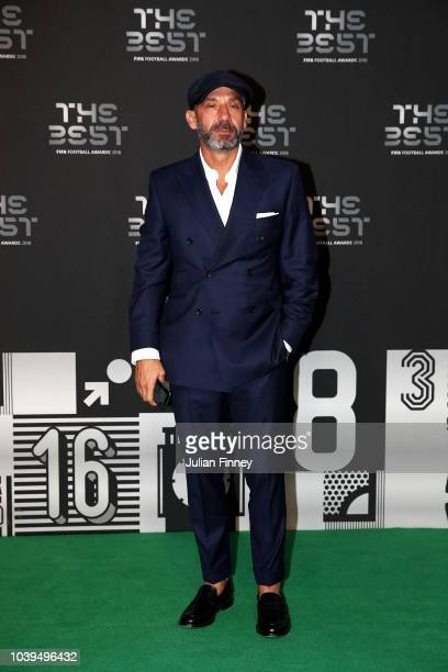Former Italy footballer Gianluca Vialli arrives on the Green Carpet ahead of The Best FIFA Football Awards at Royal Festival Hall on September 24...
