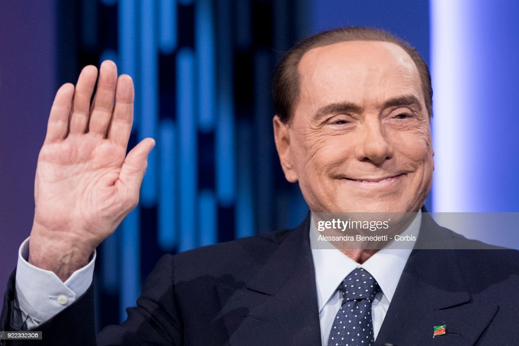 Silvio Berlusconi Appears On Italian TV Show 8 1/2