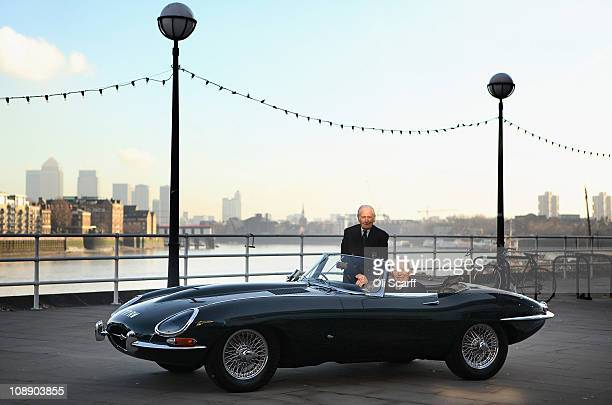 Former Jaguar test driver Norman Dewis and former world champion racing driver John Surtees celebrate the 50th anniversary of the Jaguar E-type car...