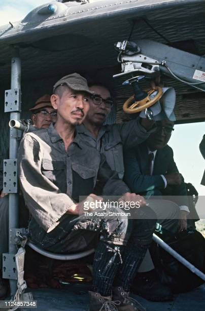 former-japanese-imperial-army-intelligent-officer-hiroo-onoda-is-seen-picture-id1124857348