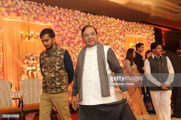 Former JDU Leader Sharad Yadav during wedding reception of Congress leader Vivek Tankha's daughter Vasundhara and soninlaw Shiv Sharma at Taj...