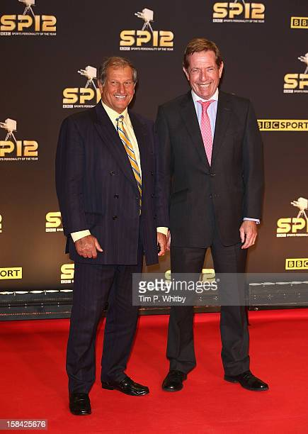 Former Jockey Bob Champion and Horse Racing presenter Derek Thompson attend the BBC Sports Personality of the Year Awards at ExCeL on December 16...