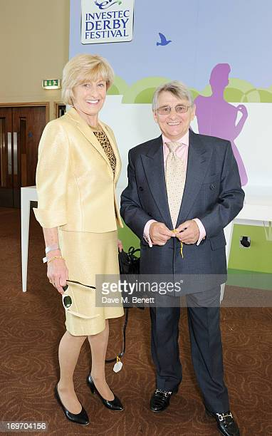 Former jockey Willie Carson and wife Elaine attend Ladies Day at the Investec Derby Festival at Epsom Racecourse on May 31 2013 in Epsom England