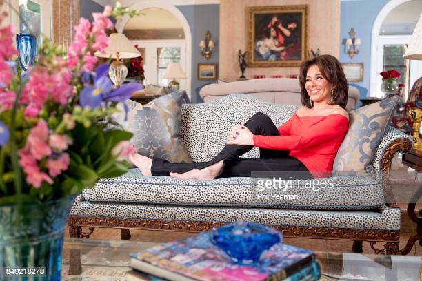 Former judge Jeanine Pirro is photographed for Closer Weekly Magazine on March 29 2017 at home in Westchester County New York