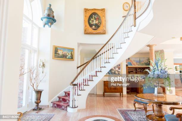 Former judge Jeanine Pirro's home is photographed for Closer Weekly Magazine on March 29 2017 in Westchester County New York The entranceway with...