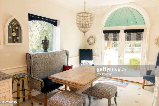 Former judge Jeanine Pirro's home is photographed for Closer Weekly Magazine on March 29 2017 in Westchester County New York Kitchen with 150yearold...
