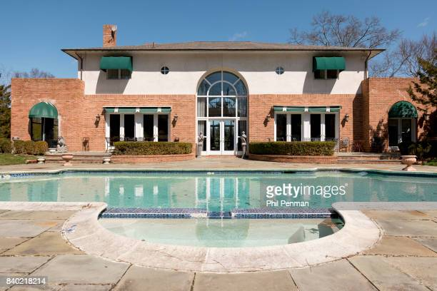 Former judge Jeanine Pirro's home is photographed for Closer Weekly Magazine on March 29 2017 in Westchester County New York Pirro had this pool...