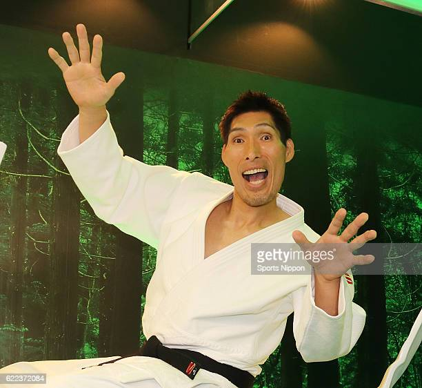 Former judoka/TV personality Shinichi Shinohara attends the Shigeru Mizuki exhibition promotional event at Sunshine City on July 25 2016 in Tokyo...