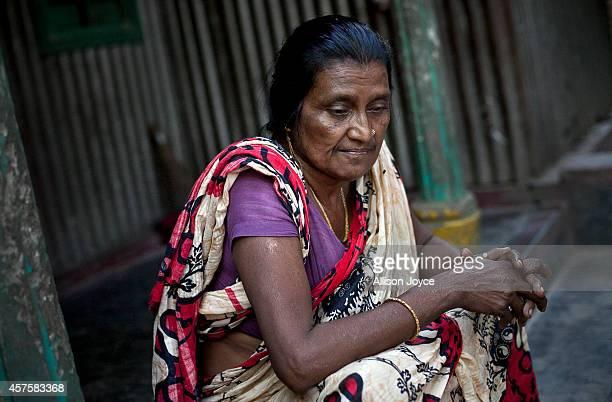 Former Kandapara brothel sex worker 50 year old Rekha is seen on October 18 2014 in Tangail Bangladesh Rakha ran away from an abusive husband and...