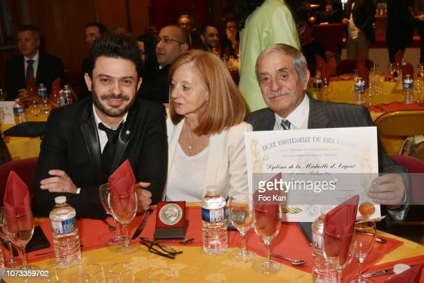 Former Karting champion/singer Gregory Bakian his mother Annie Tchoubakian his father Maurice Tchoubakian attend Gregory Bakian Ligue Universelle Du...