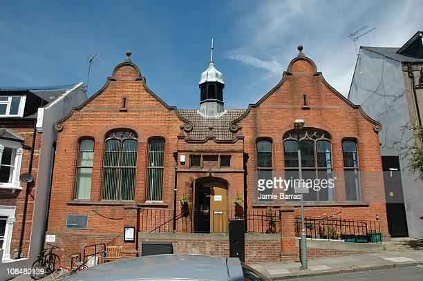 former Kilburn Public Library now a women's centre Cotleigh Road NW6 Kilburn London