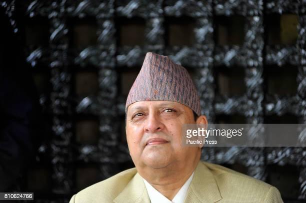 Former King Gyanendra Shah during his his 71st birthday at his residence Nirmal Niwas, Maharjagunj.