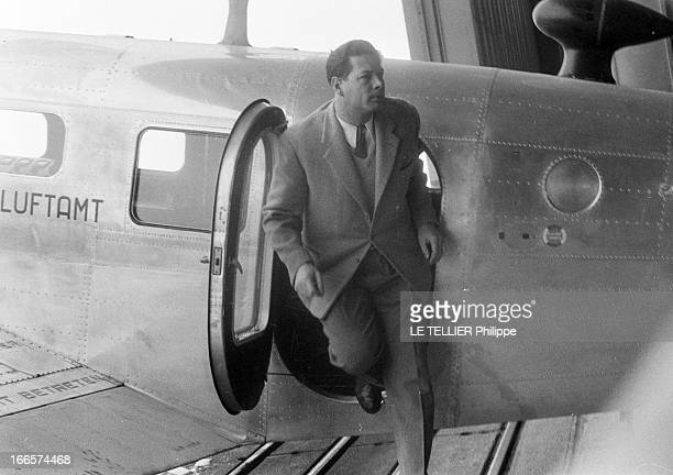 Former King Michel Of Romania Is The Director Of The School Of Automatic Flight Installed By American Company Lear In Geneva GenèveCointrin Suisse...