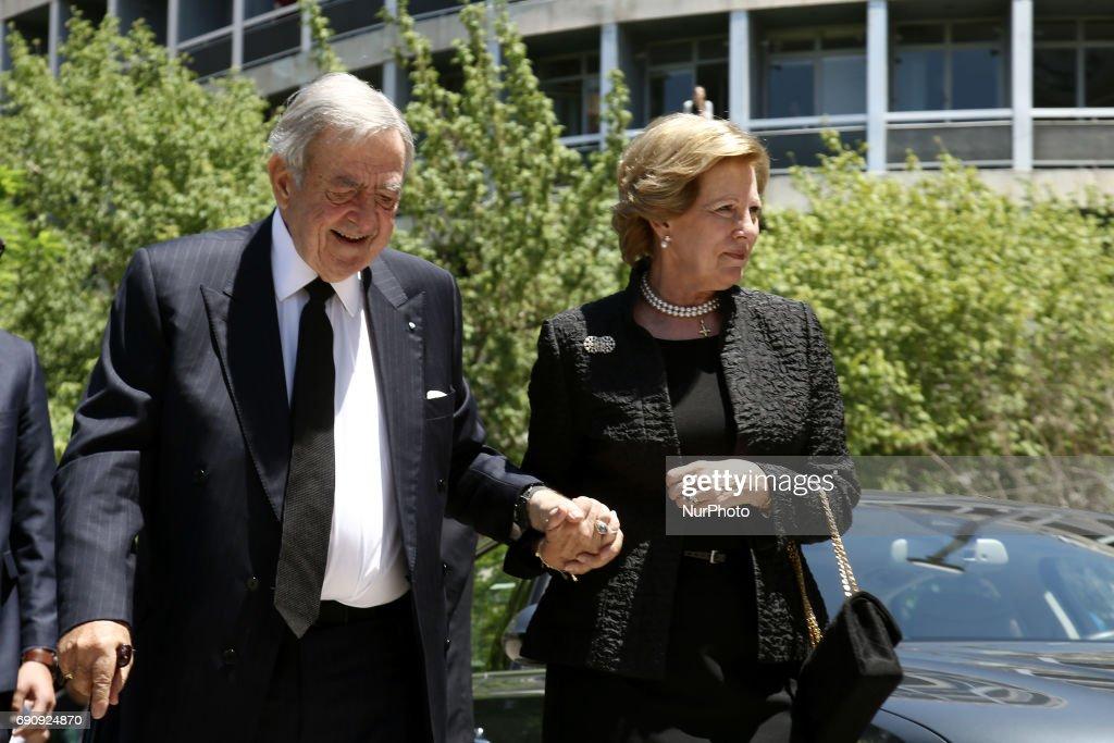 Memorial service of Constantine Mitsotakis : News Photo