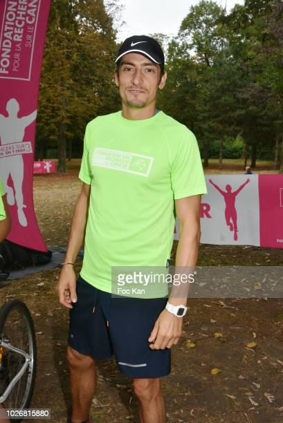 Former Koh Lanta Season 10 contestant Claude Dartois attends the Triathlon des Roses Press Conference at Carrefour des Anciens Combattants de...