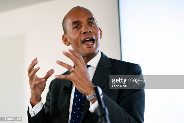 Former Labour and Change UK MP Chuka Umunna gives a speech after it was announced that he is to join the Liberal Democrat party on June 14 2019 in...