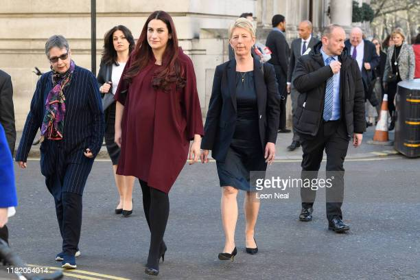 Former Labour and Conservative MPs Ann Coffey Heidi Allen Luciana Berger Angela Smith Chuka Umunna 4R Mike Gapes and Anna Soubry of the independent...